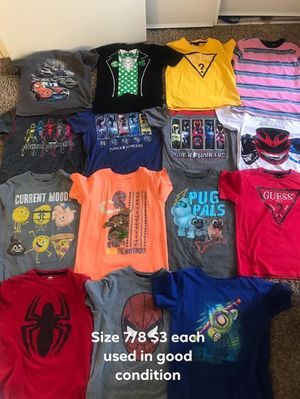 Used Kids clothes size and price on picture. Pick up only east Palmdale close to Division and R for Sale in Palmdale, CA
