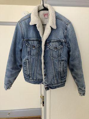 Vintage Levi's Sherpa jacket denim coat for Sale in Portland, OR