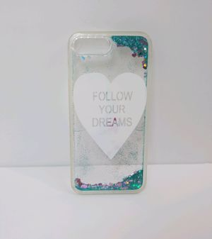 IPHONE 7 & 8 PLUS CASE CLEAR & GLITTER for Sale in Covina, CA