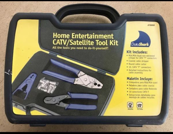 Cable tv Crimping installation tool