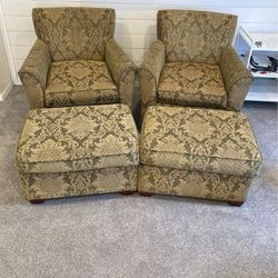 Arm Chair & Ottoman Set of 4 for Sale in Nampa,  ID