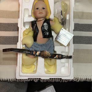 Stone Cold Steve Austin Ceramic Baby Doll Danbury Mint WWF WWE Extremely Rare for Sale in Umatilla, FL