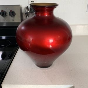 Red And Gold Vase for Sale in Phoenix, AZ