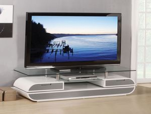 Brand New TV STAND WHITE / GRAY for Sale in Hialeah, FL
