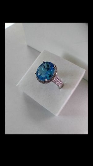 New Solid 925 Sterling Silver Blue Topaz ring size 7 or 8 $65 each OR BEST OFFER ** FOR VALENTINE'S DAY WE SHIP!! 📦📫** for Sale in Phoenix, AZ