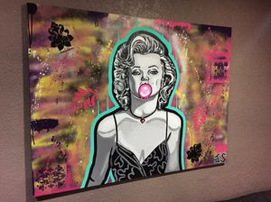 36 x 40 Marilyn Monroe hand painted (original) for Sale in Houston, TX