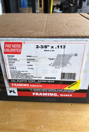 Fasteners Unlimited Nail Gun Nails -HD8DR5M for Sale in Gresham, OR