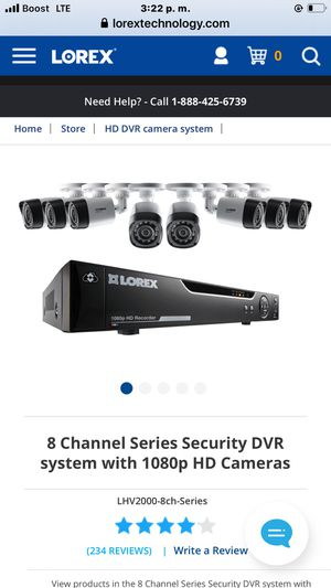 8 Chanel Lorex security cameras Hd for Sale in Cleveland, OH