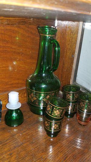 Antique Decanter w shot glasses for Sale in Edmonds, WA