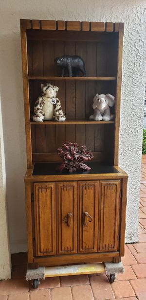 Cabinet bookcase real wood night stand bedroom for Sale in NEW PRT RCHY, FL