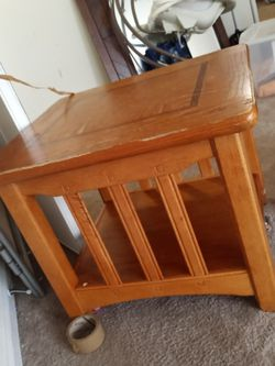 2 Caramel Wood End Tables for Sale in Raleigh,  NC