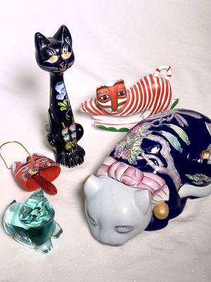 Vintage Cat Lover Glass Ceramic Christmas Ornament Decorative Pieces for Sale in Phoenix, AZ
