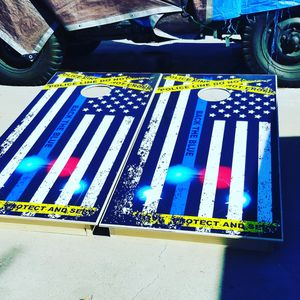 Police cornhole boards for Sale in Bakersfield, CA