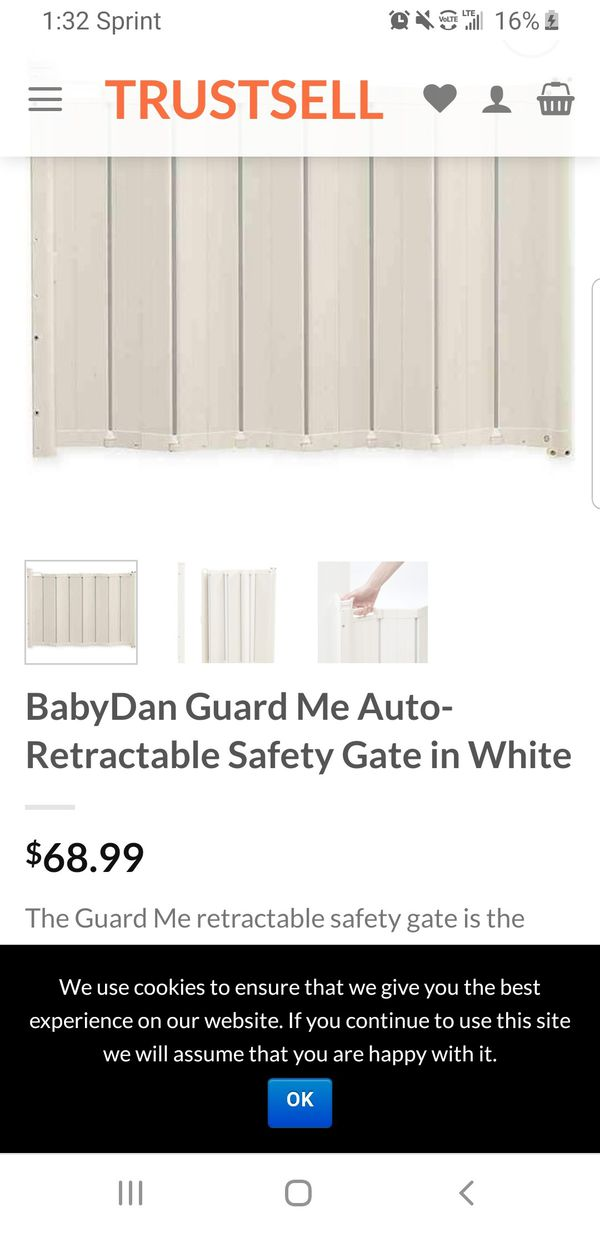 BabyDan Guard Me Auto-Retractable Safety Gate in White