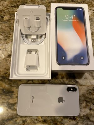 iPhone X 256 gig silver for Sale in Olympia, WA