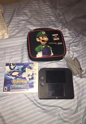 Nintendo 2ds with Pokémon alpha sapphire and Star Wars and case for Sale in Glen Burnie, MD