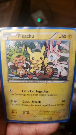 Pikachu Pokemon card for Sale in Bonney Lake, WA