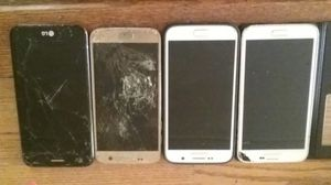 4 Android smart phones for parts. s5 s6 s7 and k20 for Sale in Phoenix, AZ