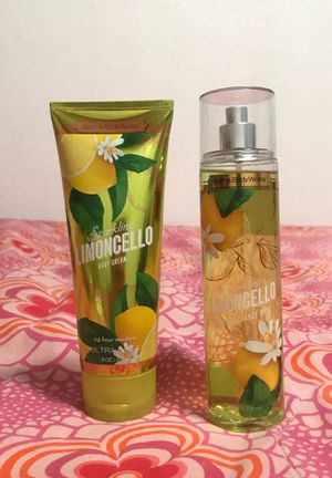 Bath and body works sparking limoncello ( body cream and fragrance mist) 8oz each for Sale in Salinas, CA
