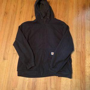 Men's Carhartt Fleece Sherpa Lined Sweatshirt Hoodie 3XL XXL Jacket Work for Sale in Pelham, NH