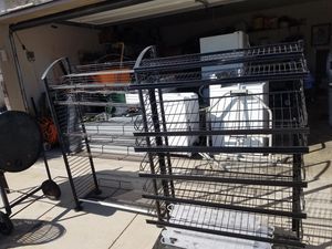 Display racks with adjustable shelf for Sale in Temple, TX
