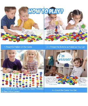 Large Button Puzzle Lacing Toys for Kids for Sale in Corona, CA