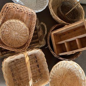 Assorted Wicker Baskets for Sale in Greenbelt, MD