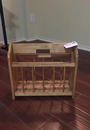 Oak magazine rack for Sale in Houston, TX