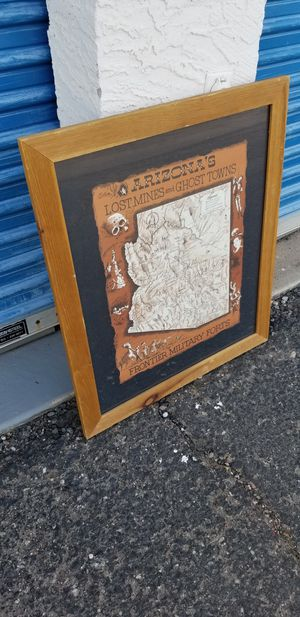 Arizona Lost Mines and Ghost Towns Print with Frame for Sale in Phoenix, AZ