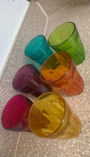 6 glass cups for Sale in Fairfax, VA