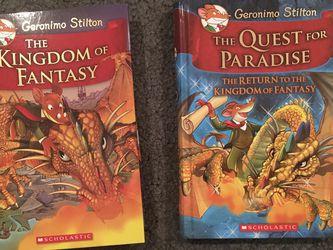 NEW Geronimo Stilton Hardcover Books - Quest For Paradise, Kingdom Of Fantasy for Sale in Cupertino,  CA