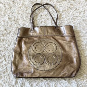 Coach metallic shoulder bag tote for Sale in Lansing, IL
