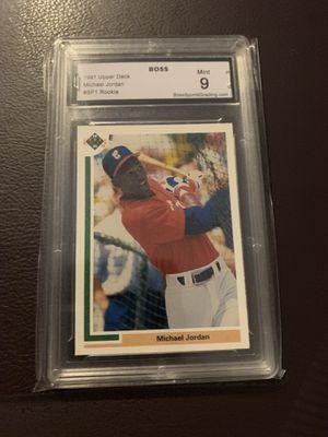 Michael Jordan Baseball Rookie Graded 9! AmAzing card! for Sale in Los Angeles, CA