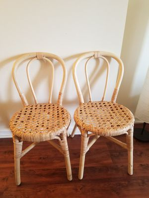 2 bamboo chairs in excellent conditon for Sale in Alexandria, VA