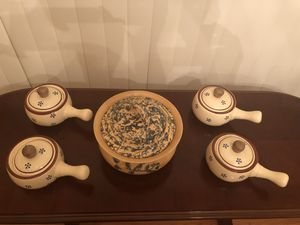 Serving dishes/soup bowls/tea kettle for Sale in Lorton, VA