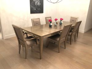 Lot of extensible dining table + 6 chairs for Sale in New York, NY