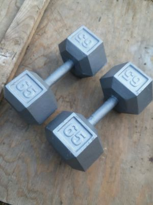 Set of 65Lb Hex Dumbbells. $80 Firm for Sale in Downey, CA