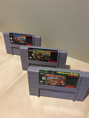Donkey Kong country trilogy for Super Nintendo! for Sale in Edmonds, WA