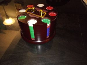 Poker chips with holder for Sale in Oak Forest, IL
