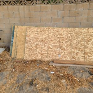 Osb playwood half inch 7 sheet and 1,,,3/4 for Sale in Fontana, CA