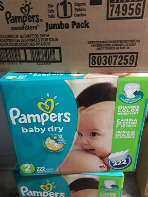 PAMPERS DRY SIZE 2 222CT for Sale in Birmingham, AL