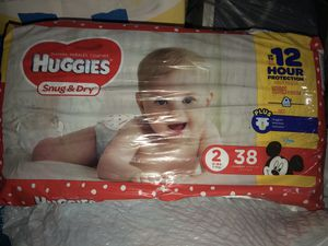 Size 2 huggies and pampers for Sale in New York, NY