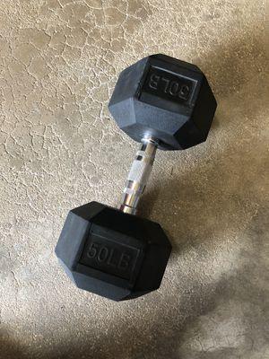 Single 50lb. Dumbbell for Sale in Oswego, IL