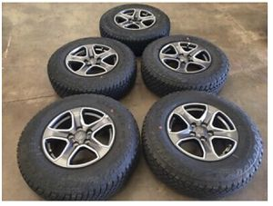 2018 Jeep Wrangler OEM Wheels & Tires Take Offs - 245/75R17 for Sale in Anaheim, CA