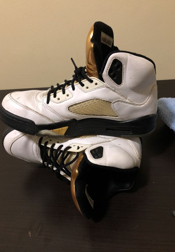 Retro Jordan 5 Gold Olympic Metal