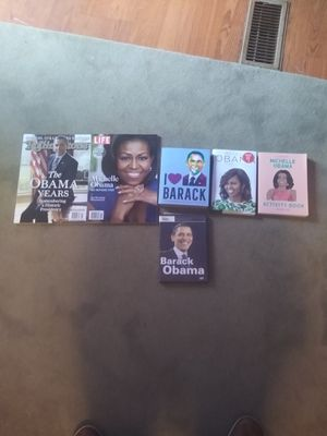 Barack and Michelle Obama books and tate for Sale in Greenville, SC