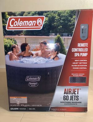Coleman SaluSpa 2-4 Person Portable Inflatable Outdoor Hot Tub Spa w/Remote NEW for Sale in Chicago, IL