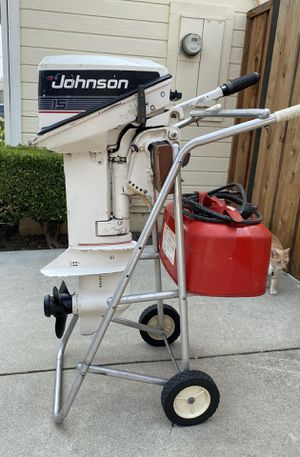 15hp Johnson outboard motor for Sale in Livermore, CA