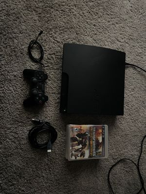 PS3 slim with control and games (all cables ) full working for Sale in Riverside, CA