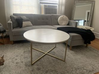 Wayfair Sectional/ Sleeper And Coffee Table for Sale in Tampa,  FL